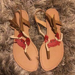 Cute crab sandals. ModCloth